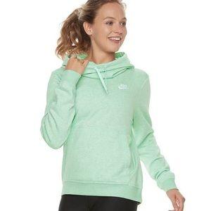 Nike Funnel Neck Mint Heathered Hoodie